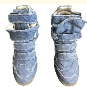 Isabel Marant Size 7US  Denim  Ankle Sneakers